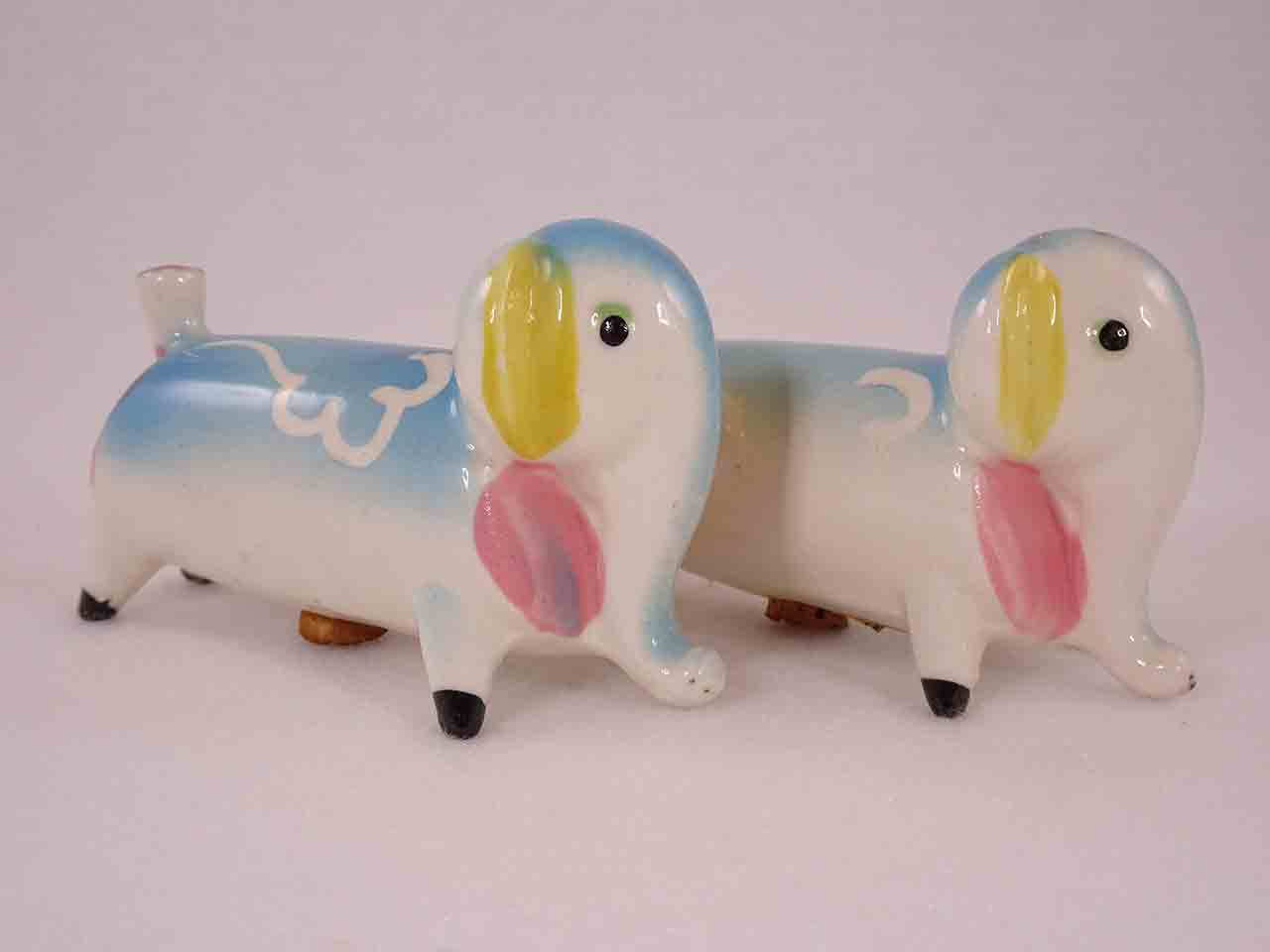Longer Animals with White Squiggly Lines salt and pepper shakers - elephants